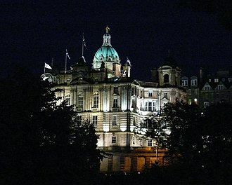 John Holland (banker) - The headquarters of the Bank of Scotland in Edinburgh, founded by Holland in 1695