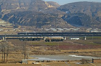 Suide County - Image: Baotou Xi'an Railway (Southbound) at Suide (20151229124652)