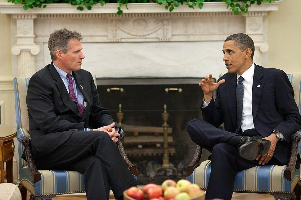 Barack Obama with Scott Brown