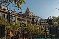 Barcelona - Passeig de Gràcia - View ESE on Casa Milà 1906-10 Antoni Gaudí I.jpg