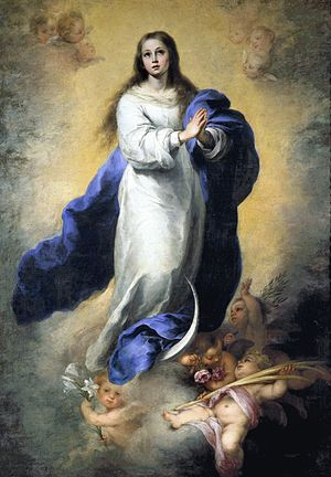 Mariology of the popes - Pius IX dogmatized the Immaculate Conception in 1854. (Murillo 1660)