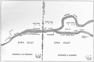 Battle of Modder River - Image: Battle of Modder River Map