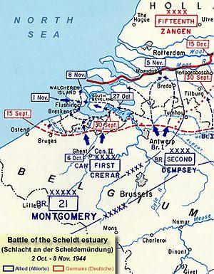 Karte der Schlacht