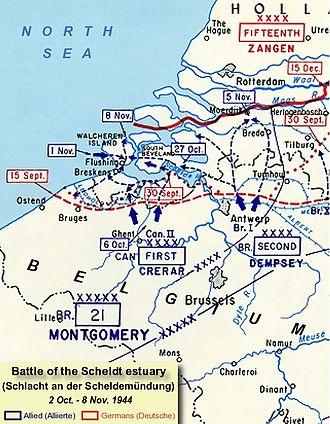 4th Special Service Brigade - Battle of the Scheldt