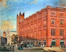 """""""Bauakademie"""", Gemälde von Eduard Gaertner, 1868 (Quelle: Wikimedia)"""