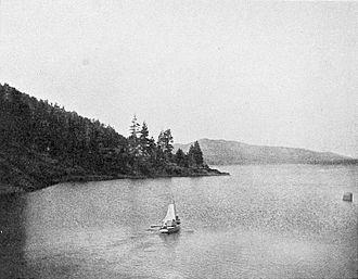 Big Bear Lake - Sailing, c. 1906