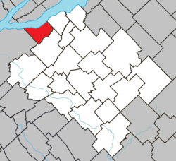 Location within Bellechasse RCM.
