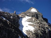 la cresta nord-est della Becca di Monciair con un gendarme.