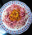 Beetroot rice and coconut gravy.jpg