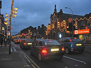 Belgrave, Leicester - Diwali and Xmas lights in 2005