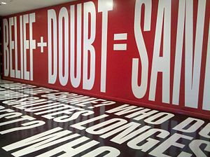 Barbara Kruger - Image: Belief+Doubt (2012)