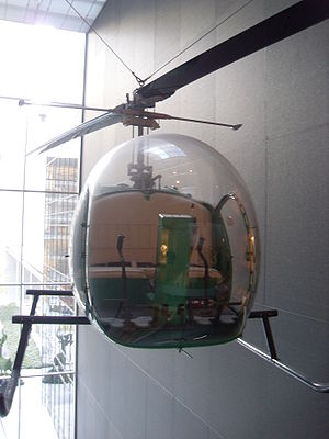 Bell Helicopter - The Bell 47 is displayed at the MoMA