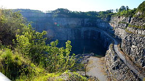 Westside Reservoir Park - Bellwood Quarry, as seen from the observation deck on the northwest side