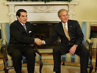 Zine El Abidine Ben Ali - Meeting between Zine el-Abidine Ben Ali and George W. Bush, in 2004, in the White house, Washington, D.C.