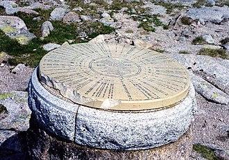 Ben Macdui - Image: Ben Macdhui summit indicator