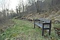 Bench by the path on The Last Clansman trail - geograph.org.uk - 1801439.jpg
