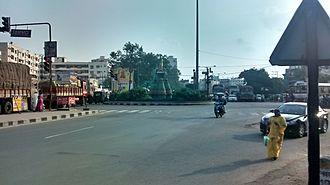 Intersection (road) - Benz Circle in Vijayawada, India
