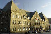 Bergen Railway Station facade2