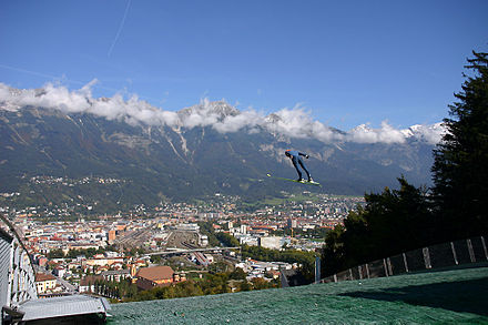 Innsbruck hosted the 1964 and 1976 Winter Olympics, as well as the 2012 Winter Youth Olympics, the first in history Bergisel.jpg