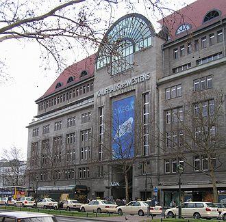 Kaufhaus des Westens - Main entrance along Tauentzienstraße