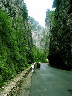 Cheile Bicazului-Hășmaș National Park - Image: Bicaz Garganta