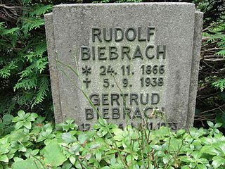 Rudolf Biebrach German actor and director
