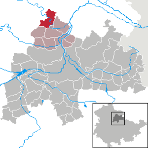 Bilzingsleben - Image: Bilzingsleben in SÖM