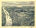 Bird's-eye view of St. Paul, looking west from Dayton's Bluff. LOC 75694647.tif