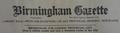 Birmingham Gazette letterhead.png