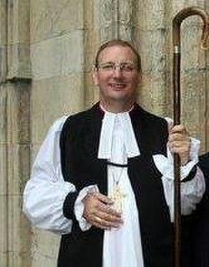Mark Davies (bishop of Middleton) - Image: Bishop Mark with family (cropped)