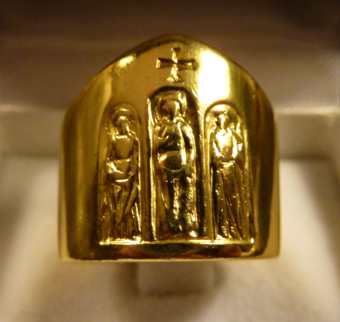 """Council ring"" given by Pope Paul VI in 1965 to those bishops who had participated in the Second Vatican Council Bishop ring for Second Vatican Council participants 02.tif"