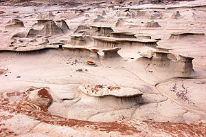 Sorcerer (film) - Bisti/De-Na-Zin Wilderness in New Mexico, used as a backdrop in the film's hallucinatory climax