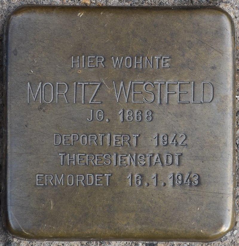 Blankenburg (Harz), Markt 5, Stolperstein Moritz Westfeld