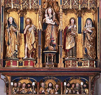 Blaubeuren Abbey - Reredos   of the high altar (central detail), by Michael Erhart