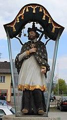 Figurenbildstock hl. Johannes Nepomuk und Kruzifixus