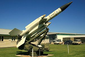 No. 30 Squadron RAAF - An ex-30 Squadron Bristol Bloodhound missile on display at the RAAF Museum