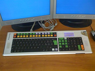 Bloomberg Terminal - An early 2000s Bloomberg terminal keyboard
