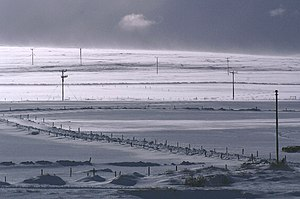 English: Blowing snow, Voesgarth