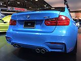 Blue BMW F30 M3 rear view Toronto Auto Show.jpg