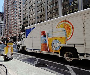 Blue Moon (beer) - Beer truck in Manhattan