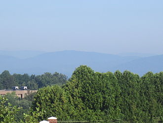 Blue Ridge Mountains - The Blue Ridge Mountains in the background from Lynchburg, Virginia