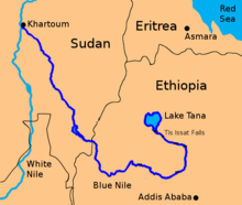 africa map blue nile