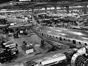 Boeing 377 Stratocruiser - Boeing 377 production line