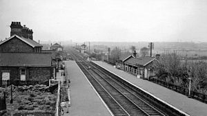 Bolton-upon-Dearne railway station - The station in 1962