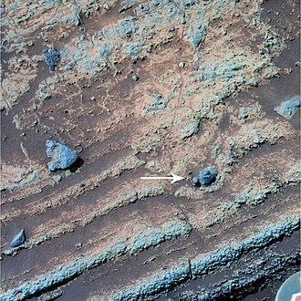 Home Plate (Mars) - Image: Bomb sag on Mars