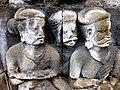 Borobudur - Divyavadana - 069 W, King Bimbisara receives King Rudrayana's Cuirass (detail 1) (11706690414).jpg