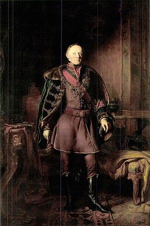 Paul III Anton, Prince Esterházy - Pál Esterházy as the Minister besides the King in the Batthyány Government