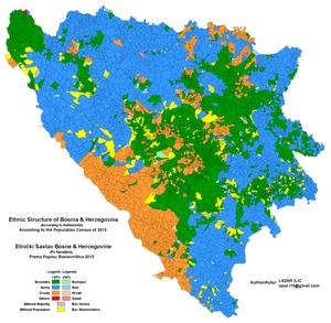 Bosnian Muslim Republic - Image: Bosnia Herzegovina Ethnic 2013