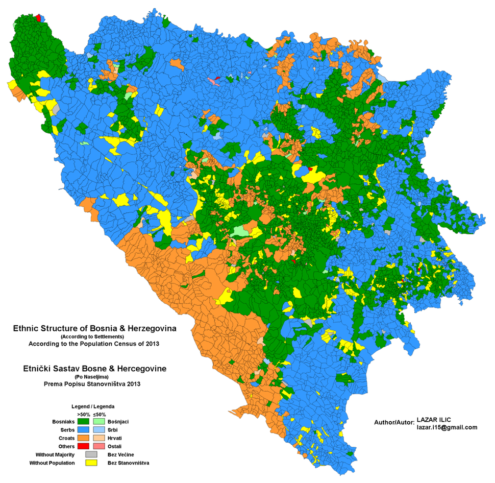 Bosnia Herzegovina Ethnic 2013