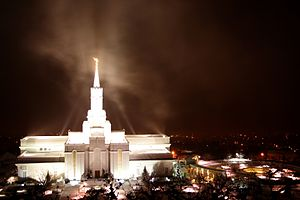 Bountiful Utah Temple - Bountiful Temple at night.
